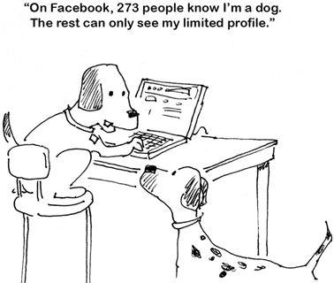 Dog --- facebook cartoon