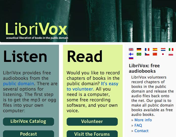 bookofjoe: LibriVox org — Public domain audio books