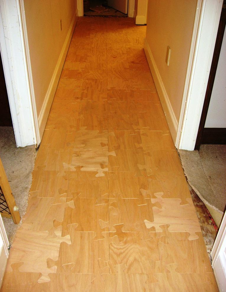 jigsaw puzzle floor - Puzzle Wood Flooring
