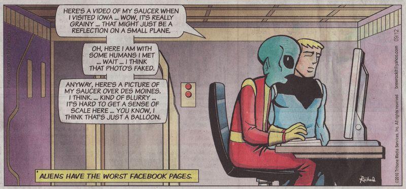 Alien facebook