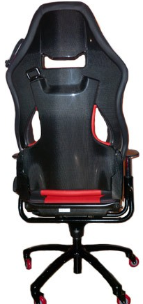 Custom Made Office Chair With A Carbon Fiber Shell From A Ferrari F430  Scuderia 16M.