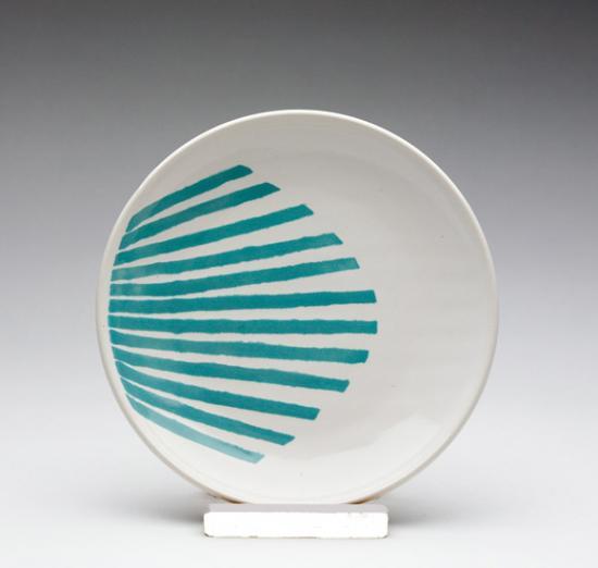 Fan-striped-lunch-plate