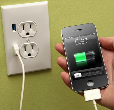 Charge Your iPhone From The Wall Socket