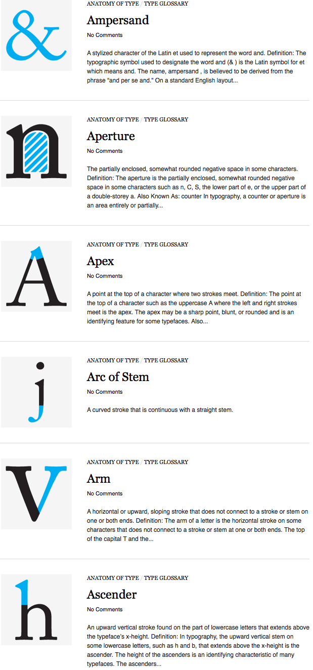 bookofjoe: Typography deconstructed: \