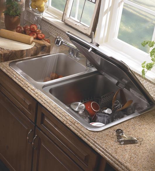 Bookofjoe integrated sink x dishwasher for Kitchenaid lavastoviglie