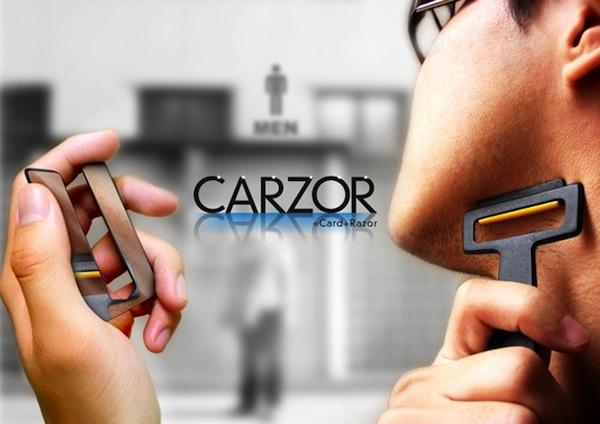 Carzor-card_shaped_razor_mirro