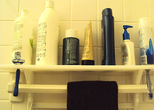 bookofjoe: Shower Shelf transforms towel rack into a shelf