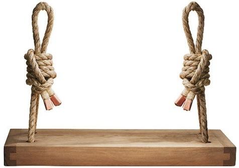 Ceder-rope-hanging-swing