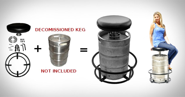 Bookofjoe Keg Bar Stool Kit