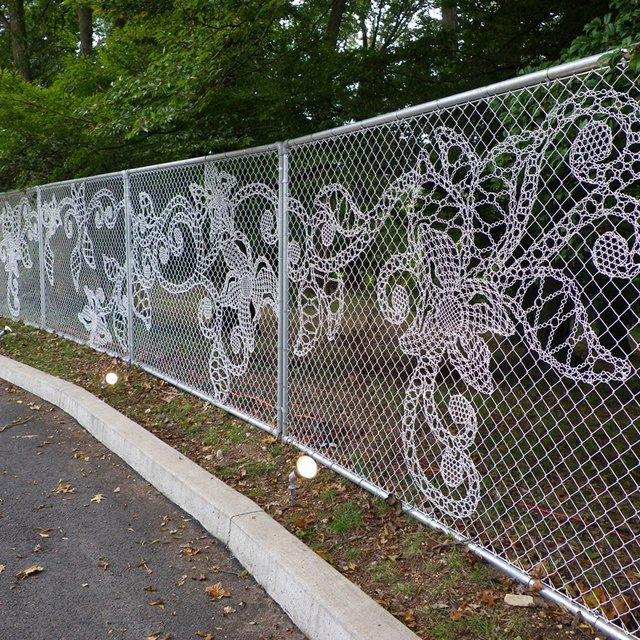 Bookofjoe lace chain link fence lace chain link fence workwithnaturefo