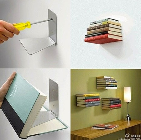 How To Make An Invisible Floating Bookshelf