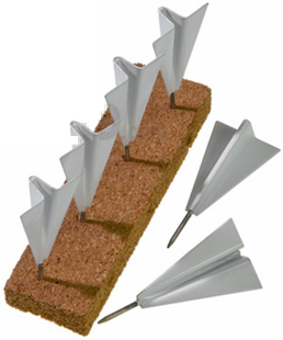 Paper-airplane-pushpins