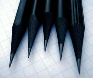 Black-dyed-pencils