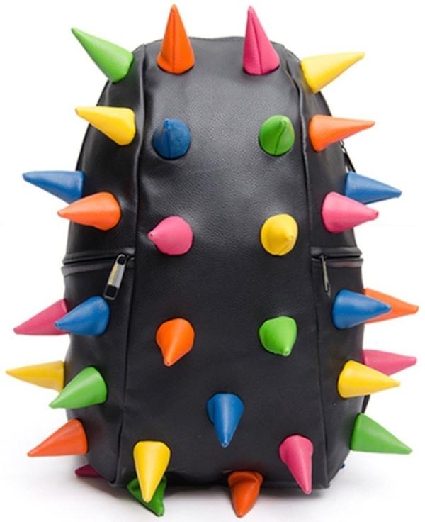 Multicolor-Unisex-Women-Men-Hedgehog-Spike-Punk-Backpack