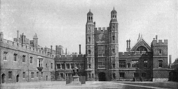 School Yard Eton College 1920