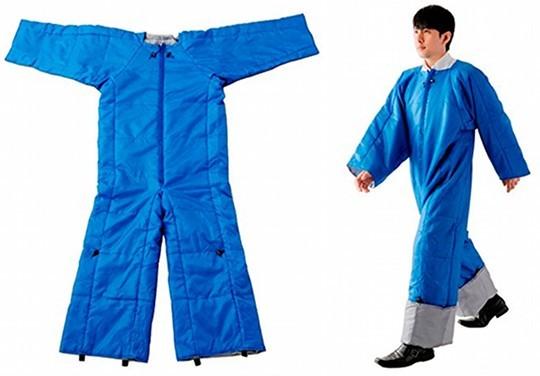King-jim-wearable-futon-office-blanket-air-mat-2