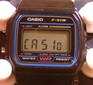 Casio_F-91_Module_593_Displaying_CASIo