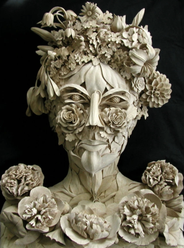 Female botanical head  for a private client  inspired by the 16th-century Italian artist Arcimboldo