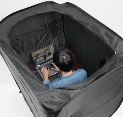 Sanwa-home-privacy-tent-booth-teleworking-gaming-indoor-4