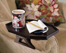 Bookofjoe Portable Attachable Armchair Couch Table
